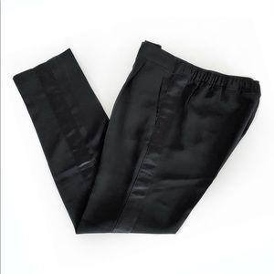 Satin Striped Tuxedo Pants